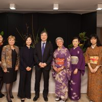 Mr Sugiura,Mme Delort et nos artistes japonaises