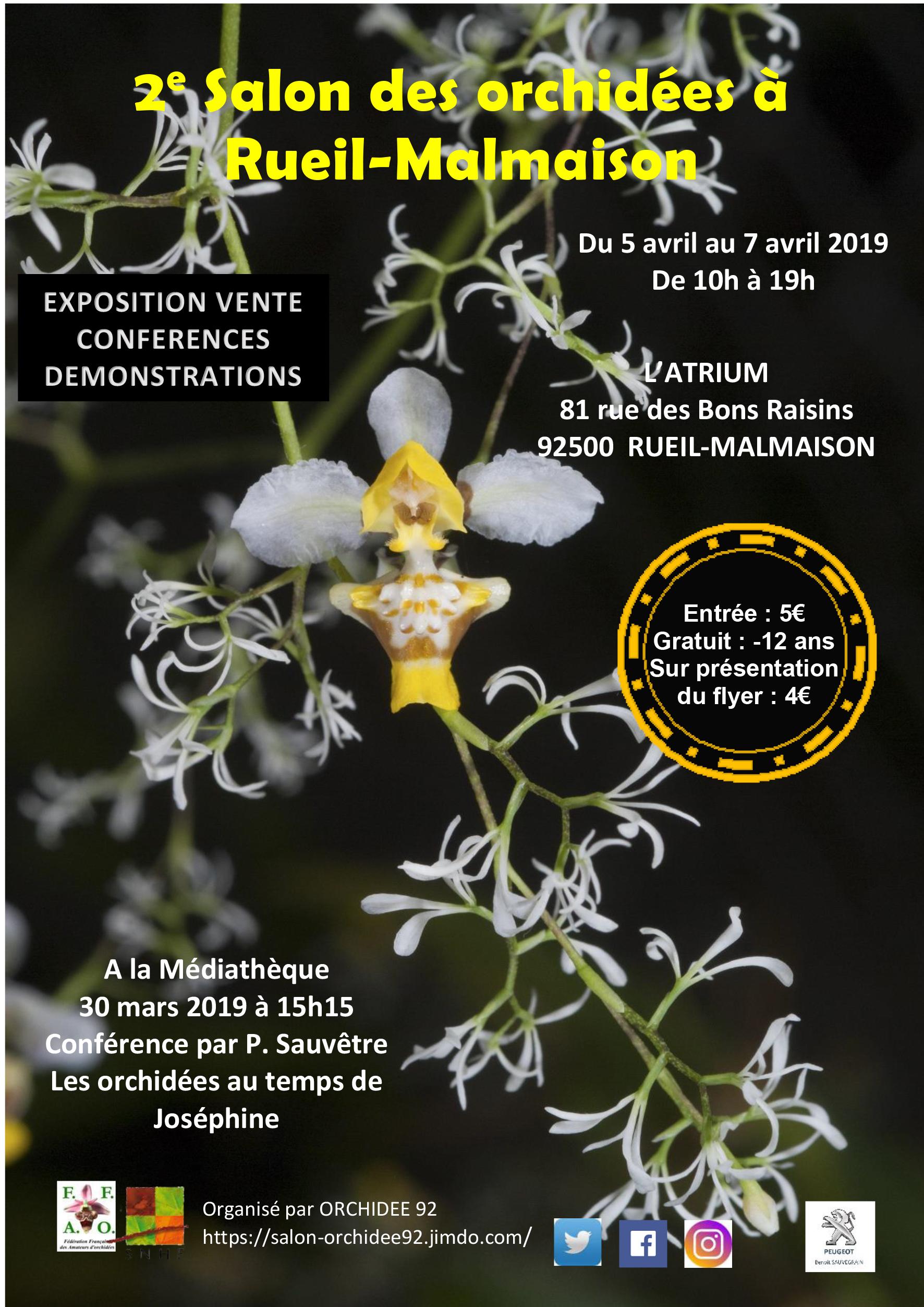 Salon des orchidées à Rueil-Malmaison - Société Nationale d ...