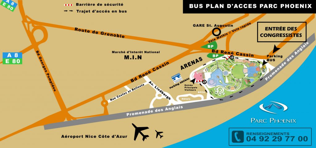 Plan d'accès au parc Phoenix