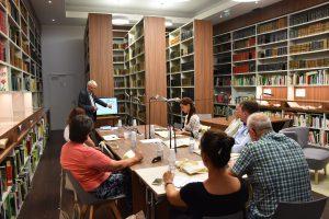 Présentation de la SNHF à la délégation hongroise